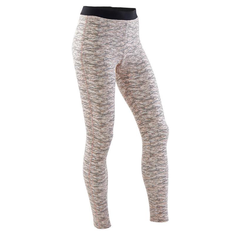Legging fille coton - 500 dégradé gris et rose
