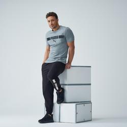 Heren T-shirt Puma grijs met logo