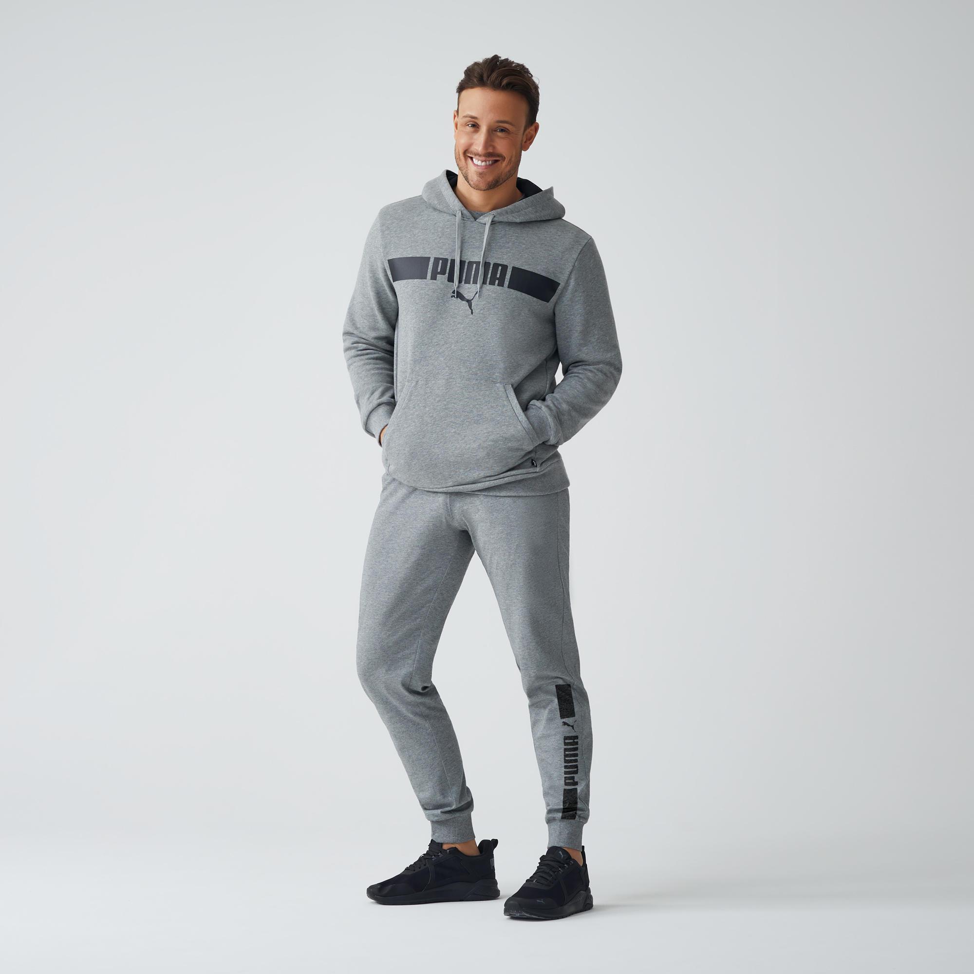 Pantalon PUMA gri bărbați imagine