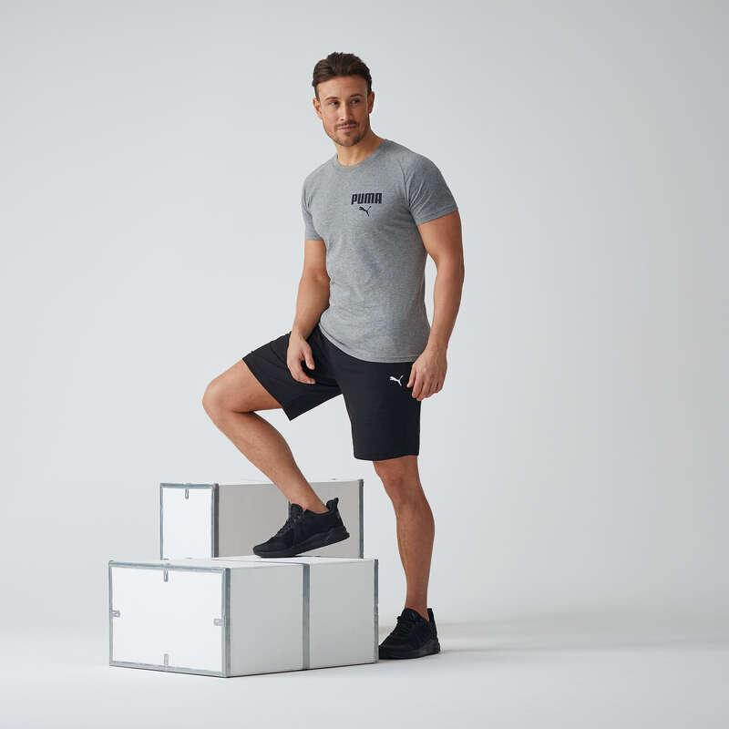 KLÄDER FÖR GYMNASTIK, PILATES, HERR Pilates - Shorts PUMA ACTIVE AW20 svarta PUMA - Fitness, Gym, Dans 17
