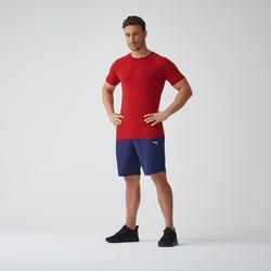 Heren T-shirt voor gym bordeaux