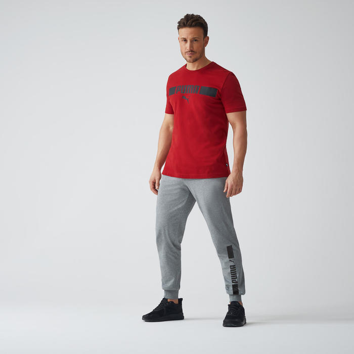 T-Shirt Puma Homme Bordeaux avec Logo