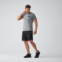 T-shirt voor heren grijs