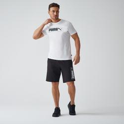 T-shirt voor heren grijs met wit logo