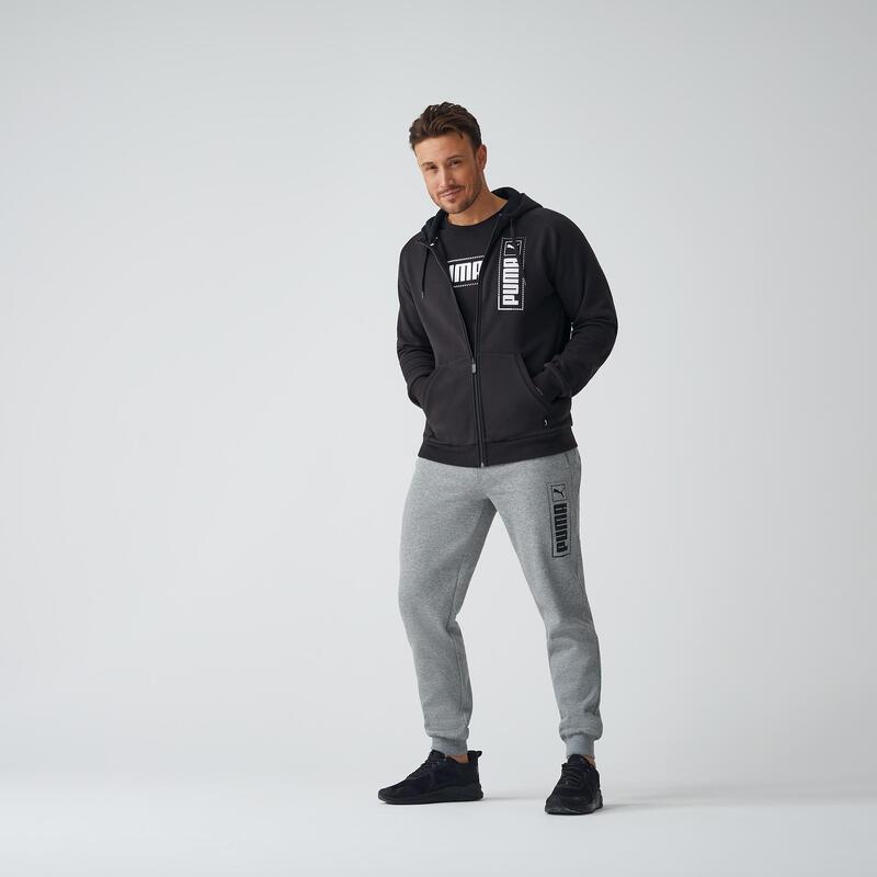 Men's Jogging Bottoms - Grey with Logo