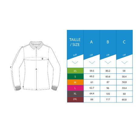 Women's golf long-sleeved polo shirt MW500 navy blue