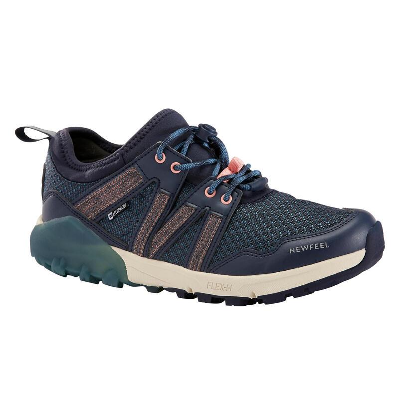 Waterdichte schoenen voor nordic walking NW 580 blauw