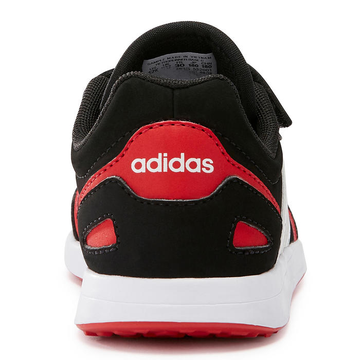Kindersneakers voor wandelen Switch zwart/rood klittenband