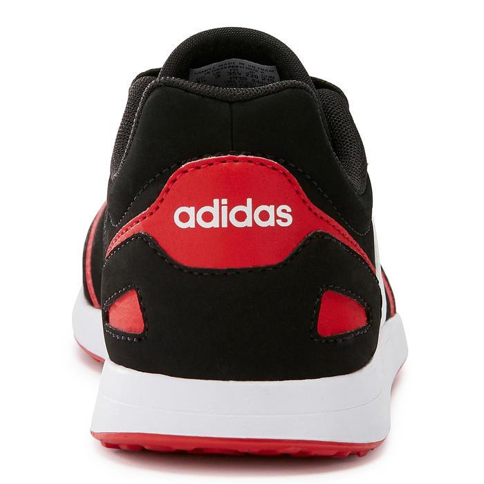 Kindersneakers voor wandelen Switch zwart/rood veters