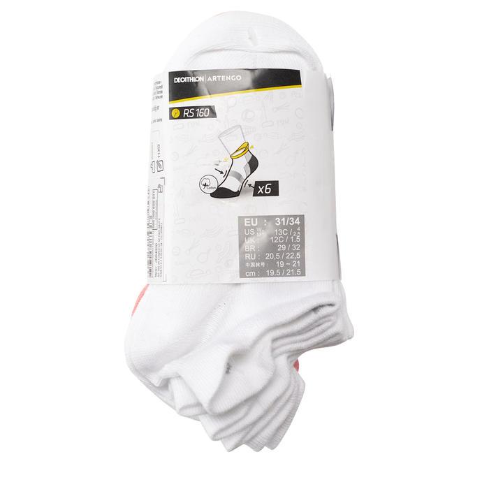 Tennissocken RS 160 ×6 Low Edge Kinder weiss/rosa