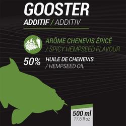 Vloeibaar additief voor statisch vissen Gooster gekruid hennepzaad 500 ml