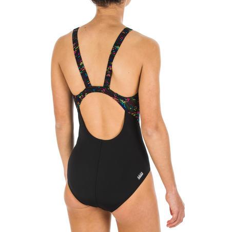 Girls' Chlorine-Resistant One-Piece Swimsuit Kamiye - Fire