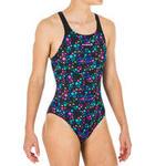 Nabaiji Sportbadpak voor zwemmen meisjes chloorbestendig Kamyleon Star