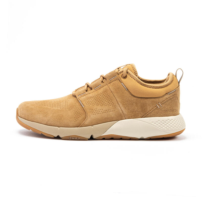 Actiwalk Comfort Leather Men's Urban Walking Shoes - Camel