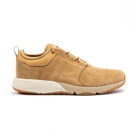 Men's Fitness Walking Shoe Actiwalk Comfort Leather - camel