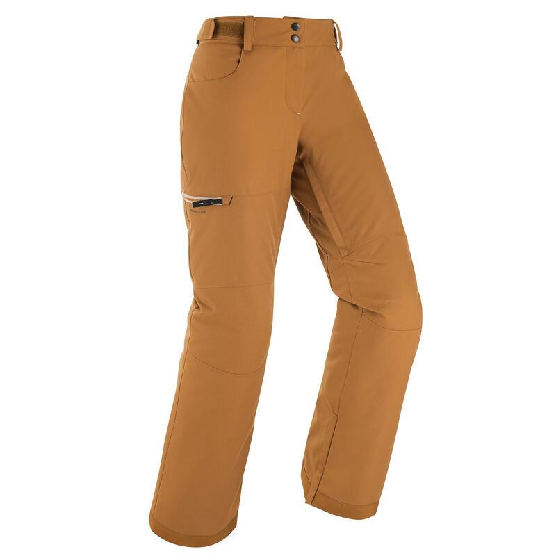 Pantalon ski et pantalon snowboard femme 500 Camel