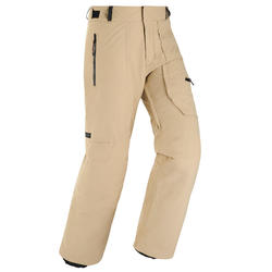 Men's Ski and Snowboard trousers SNB PA 500 - beige