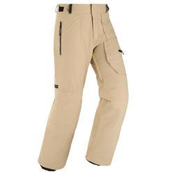 男款單/雙板滑雪長褲SNB PA 500 - 米色