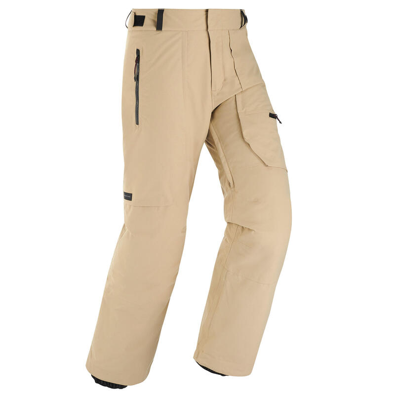 Men's skiing and snowboarding trousers 500 Beige