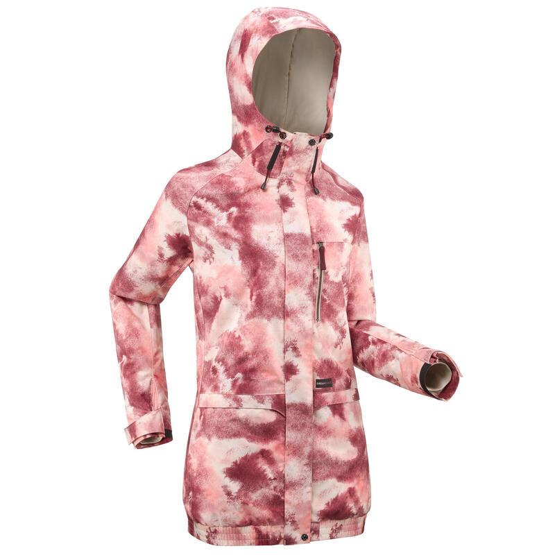 Snowboard- en ski-jas voor dames SNB JKT 100 AO roze