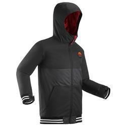Snowboard- en ski-jas voor kinderen SNB JKT 100 zwart