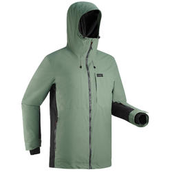 Men's Snowboard and Ski Jacket SNB JKT 500 - khaki green