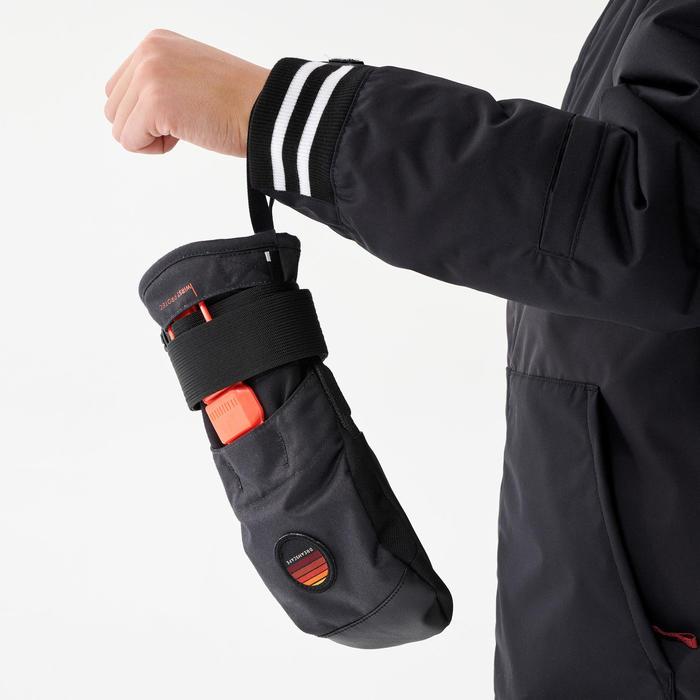 Moufle de snowboard enfant MI 500 JR Protect, noire et orange
