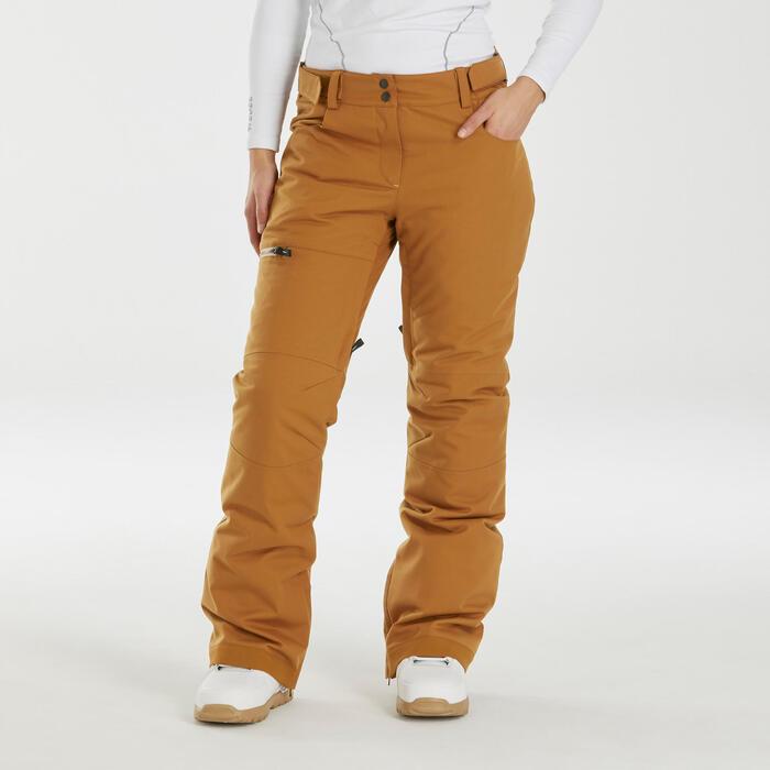 Pantalon de snowboard et de ski femme SNB PA 500 camel