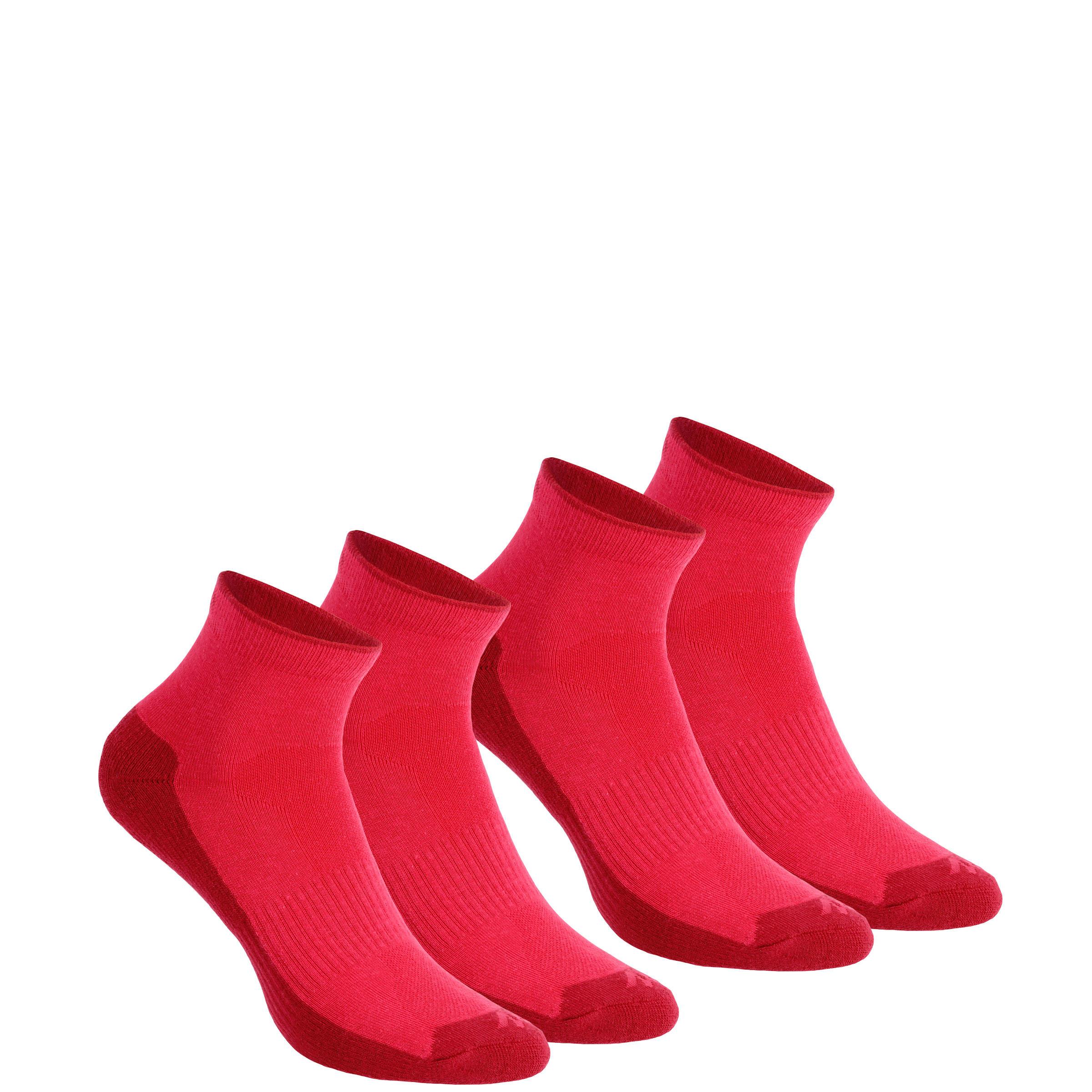 2 pares de calcetines de campismo cortos adulto Arpenaz 50 rosa