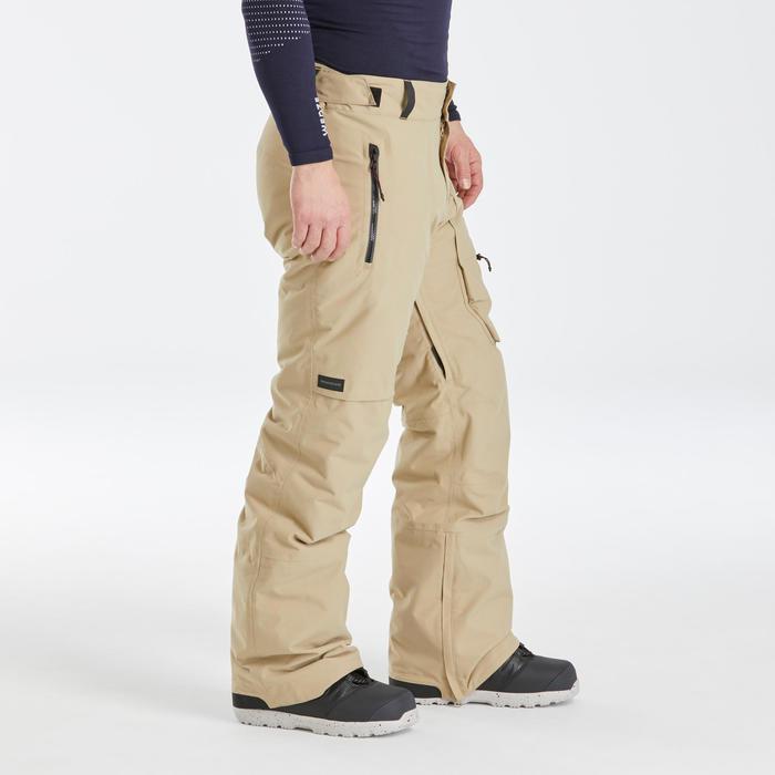 Pantalon de snowboard et de ski homme SNB PA 500 Beige