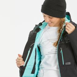 Ski- en snowboardjas voor dames SNB JKT 500 camo zwart