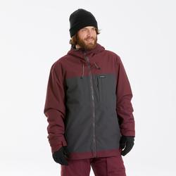 Veste de Snowboard et de ski Homme SNB JKT 500 PROTEC Bordeau 3 EN 1