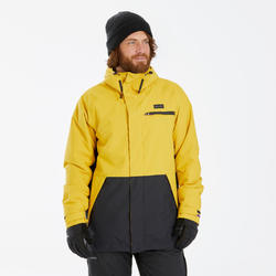 Snowboard- en ski-jas voor heren SNB JKT 100 geel