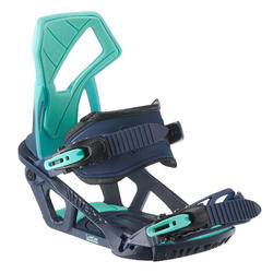 Fixations de snowboard piste / hors-piste, femme, Serenity 500 bleues