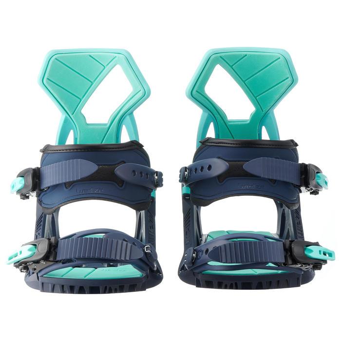Snowboardbindingen voor piste/off-piste dames Serenity 500 blauw