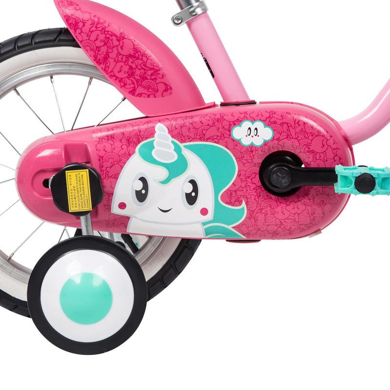 """Kids' Bike 14"""" 500 - Unicorn"""