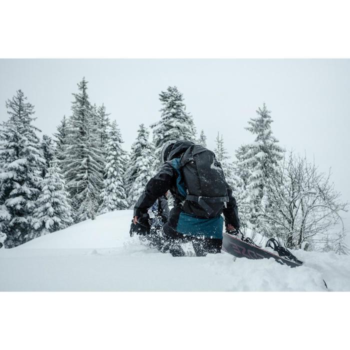 Snowboardhose Skihose Latzhose 900 Herren schwarz