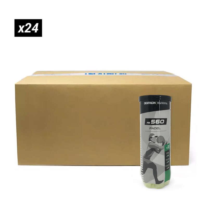 PŮJČOVNA PADEL RAKETOVÉ SPORTY - MÍČKY NA PADEL PB560 BOX 24×3  KUIKMA - Padel