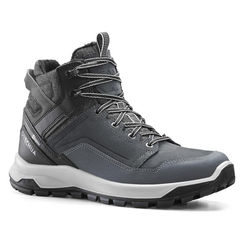 Chaussures cuir chaudes et imperméables de randonnée - SH500 X-WARM - Homme