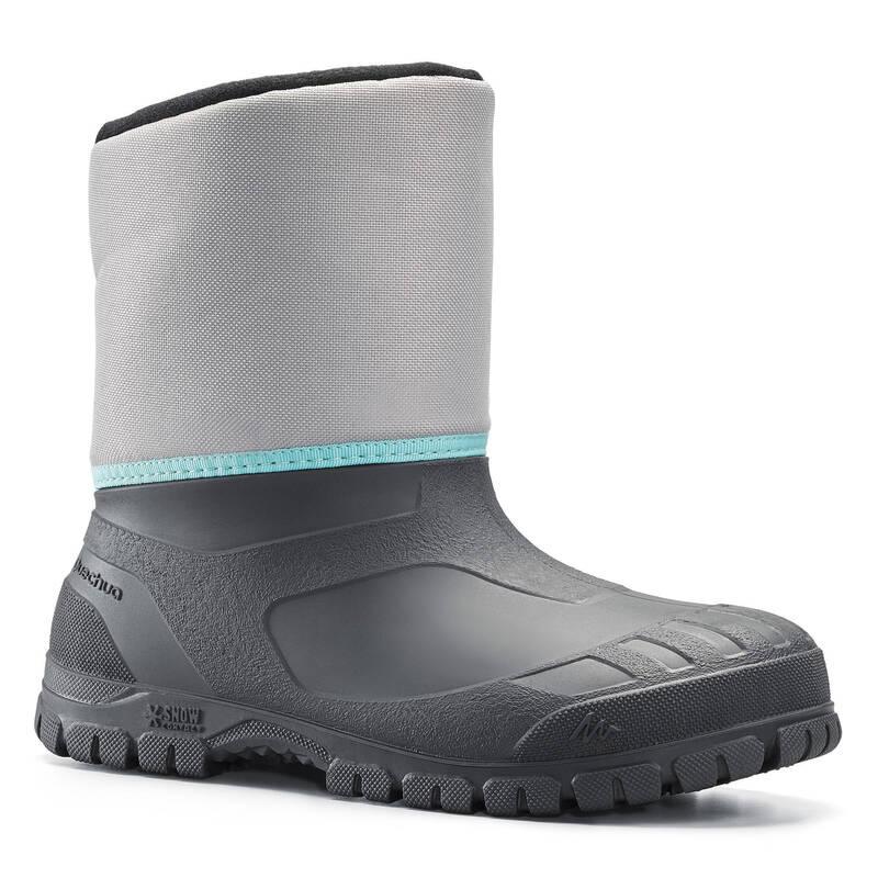 DĚTSKÉ BOTY NA ZIMNÍ TURISTIKU Turistika - SNĚHULE SH 100 WARM ŠEDÉ QUECHUA - Turistická obuv