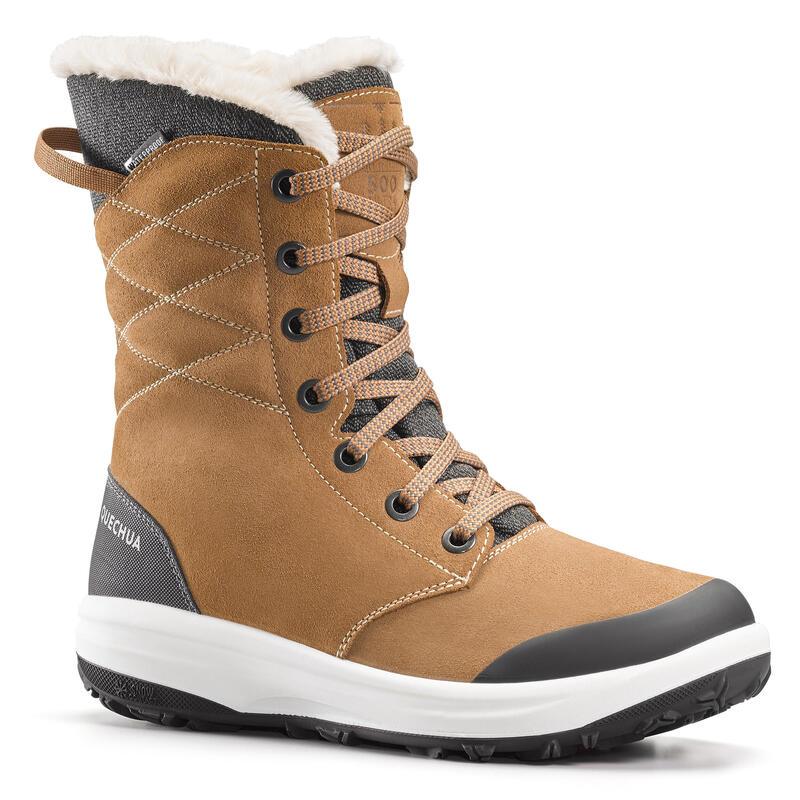 Women's Warm Waterproof Snow Walking Shoes - SH500 U-WARM - High