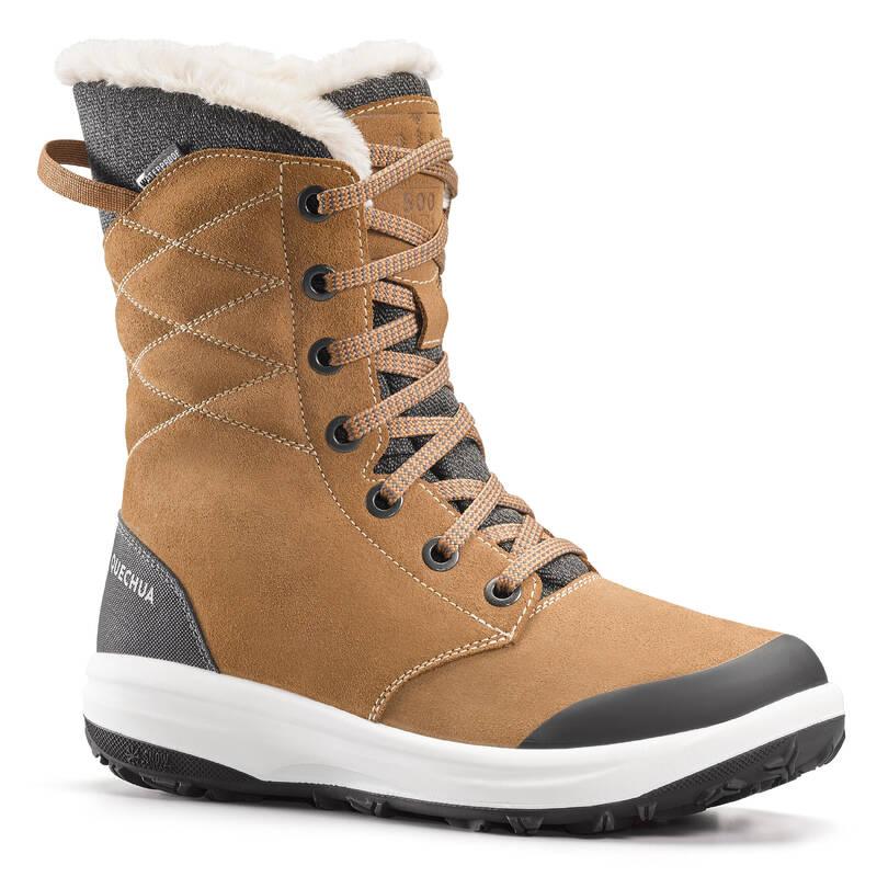 DÁMSKÉ BOTY NA ZIMNÍ TURISTIKU Dámské boty - VYSOKÉ BOTY SH 500 U-WARM QUECHUA - Dámské boty