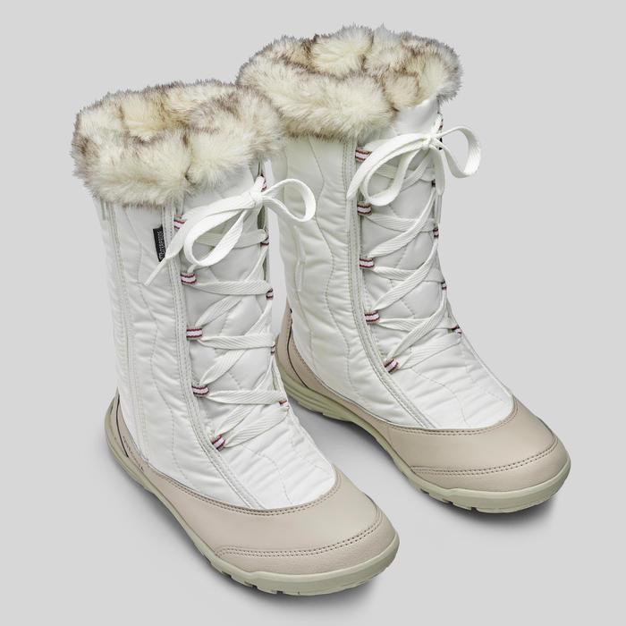 KIDS' WARM AND WATERPROOF SNOW BOOTS - SH500 X-WARM ZIP