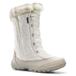 Warme waterdichte wandellaarzen voor de sneeuw kinderen SH500 X-Warm Zip
