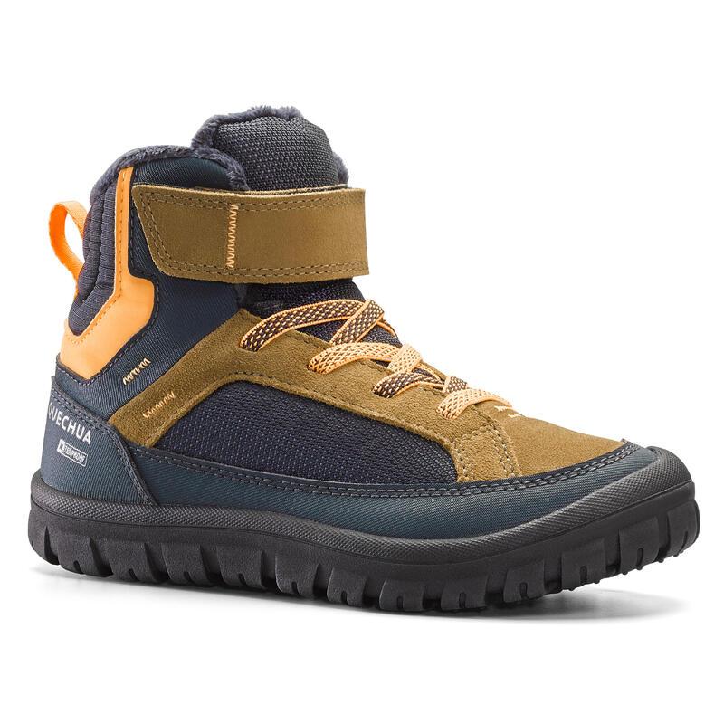 Warme en waterdichte wandelschoenen kinderen SH500 Warm klittenband maat 28-32