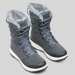 Chaussures chaudes imperméables de randonnée neige - SH500 U-WARM - Hautes Femme