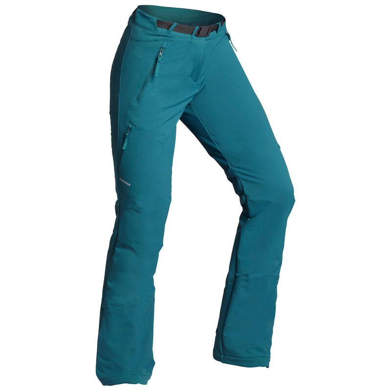 Women's Snow Hiking Water Repellent Stretch Trousers SH500 X-Warm