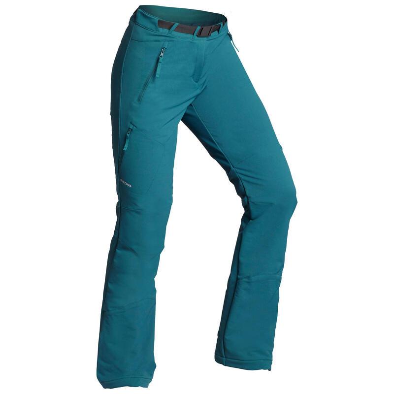 Waterafstotende, warme broek voor sneeuwwandelen Dames - SH500 X-WARM - stretch