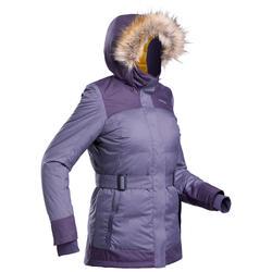 Parka light chaude imperméable de randonnée -SH500 X-WARM - femme