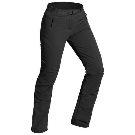 Pantalones de Montaña y Trekking Invierno de Mujer Quechua SH500 X-Warm Negro